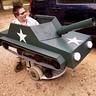 Tank Halloween costume idea for wheelchair