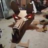Photo #3 - Cardboard head done and lights working