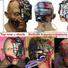 Photo #4 - Mask b4/after mods-LED panel, extra flesh, repaint, laced shut, drinking system