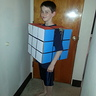 Photo #1 - Homemade Rubik's Cube costume