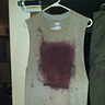 Photo #4 - The shirt after much staining and weathering. Hard to believe it was a new shirt a couple hours before this.
