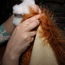 Photo #2 - Stuffing the Lion Dog Costume