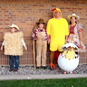 Photo #0 - Cowboy, Scarcrow,  Bail of Hay. Farmer, Rooster. Chic in Egg, Cowgirl