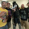 Photo #2 - The KISS Demon with some random fans at a KISS concert