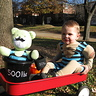 Photo #3 - The little strongman and his strongbear.