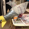 Photo #2 - The Paper Mache shark in progress
