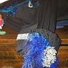 Photo #8 - Updated dress shirt sleeves: feather, silk, bling ribbon, brooch