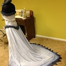 Photo #4 - This photo is of the dress as it was being finished.