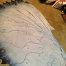 Photo #7 - This photo shows the veil, and how I painted it.