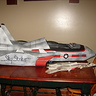Photo #4 - Plane next to model Top Gun Fighter Plane