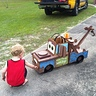 Photo #4 - my son inspecting the completed Mater