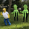 Photo #1 - Homer Simpson trying to run away from Kang and Kodos