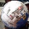 Photo #4 - Mixs wood glue a little of water and wrap with newspaper