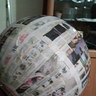 Photo #5 - It should look like this when you done with 3 layers of  paper mache
