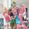 Photo #1 - Trolls Family Costume (Poppy, Branch, Lady Glitter Sparkles, DJ Suki, Prince Gristle)