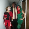 Photo #1 - Me as Two face, my sister as Poison Ivy, and my girlfriend Harley Quinn