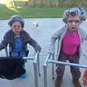 Photo #2 - Two old Granny's with their walkers