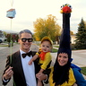 Up Family Costume: Mr. Fredrickson, Kevin, and Russel