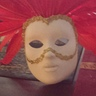 Photo #6 - The red lady's face mask in progress.