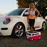 Photo #2 - Our pink and white Vdubs!