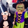Photo #1 - Wicked witch and little monkey ready to get some candy!
