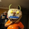 Photo #5 - Eye placement and nose before final paper mache and painting
