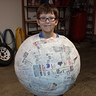 Photo #2 - Paper mache ball