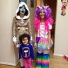 Photo #4 - Myself with my sister(as a unicorn) and my cousin.