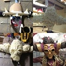 Photo #3 - So As you can see I saved the hassle of having like 18 steps on this project by stitching the images together for your pleasure. The first image to the left is my backbone to the whole mask. I started my buying a cheap plastic mask. the ones everyone puts