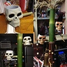 Photo #7 - I made that word up ^... Ok the staff started with a really nice piece of bamboo. keep in mind bamboo is some tough stuff. The skull you see here were like 67 cents at the store i made to buy them to good of a find. i painted them first  stuck bamboo thro