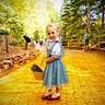 Photo #3 - Finding her way on the yellow brick road!