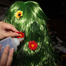 Photo #6 - Decorating the Wigs with Flowers