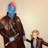 Photo #2 - Yondu teaching young Star-Lord his moves