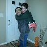 Photo #1 - Incredible! Zombie carrying split in half zombie on its back