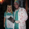 Photo #1 - My wife and I in matching costumes. My wife did her own facial make up. I did the slit throat effect for her.