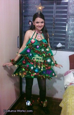Katy Perry Christmas Tree Costume