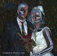 Dead Bride and Groom Couples Costume