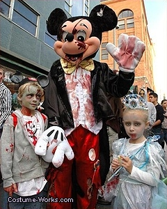 Zombie Mickey Mouse Costume