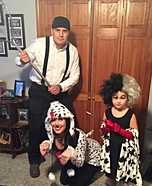 101 Dalmatians Family Homemade Costume