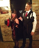 1920's Corrupt Cop and his Flapper Homemade Costume