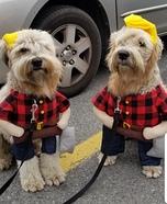 2 Canadian Lumberjacks Homemade Costume