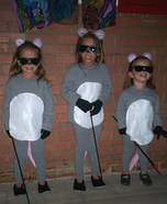 Homemade Three Blind Mice Costume