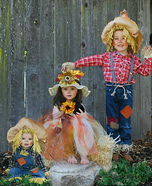 3 Little Scarecrows Homemade Costume