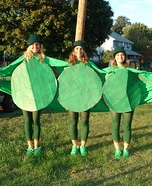 3 Peas in a Pod Homemade Costume