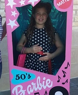 50's Barbie in a Box Costume