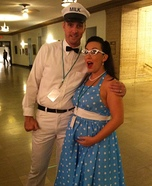 Pregnant couples costume ideas - 50's Housewife & the Milkman Costume