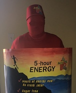 5 Hour Energy Drink Homemade Costume