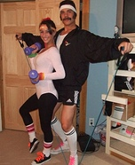 Coolest couples Halloween costumes - 80's Exercise Couple Costume