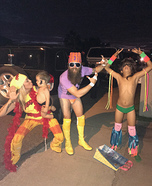 80's Wrestlers Family Homemade Costume