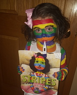 Children's book Halloween costumes - A Bad Case of Stripes Costume